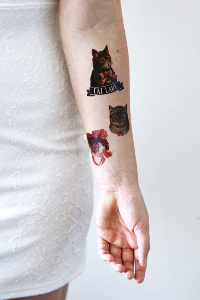 cat lady temporary tattoos outcome