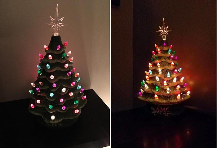 ceramic christmas tree green customer photos