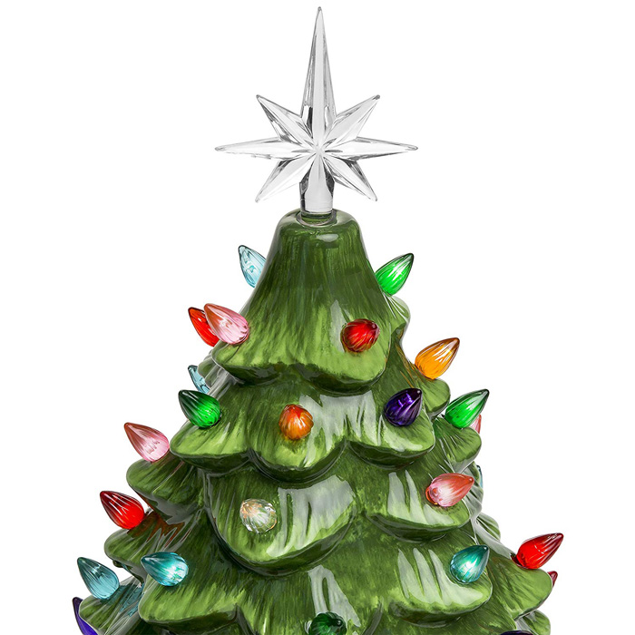 ceramic christmas tree seven-pointed star topper