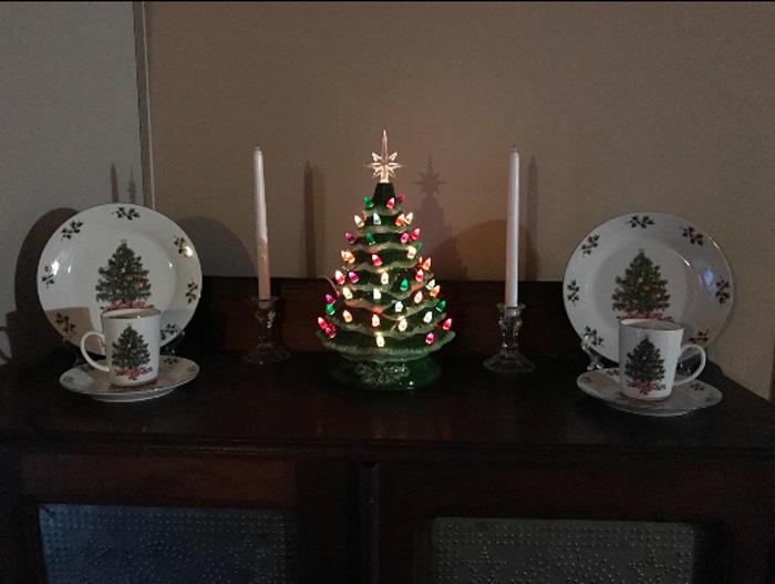 ceramic christmas tree tabletop