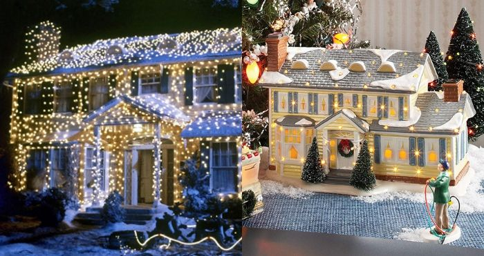 ceramic replica of the griswolds' house