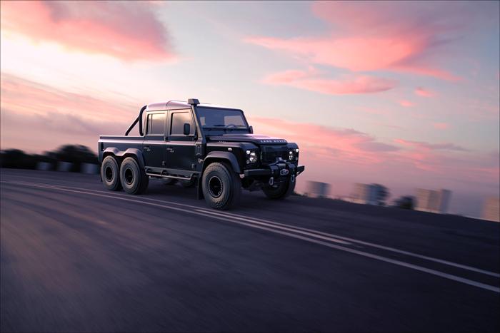 classic overland land rover black mamba 6x6 suv