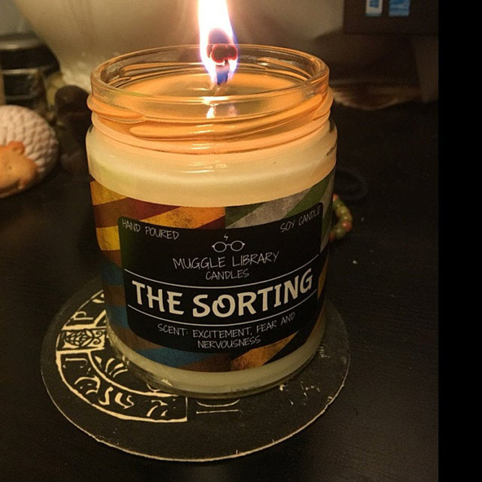 color-changing sorting candle blue