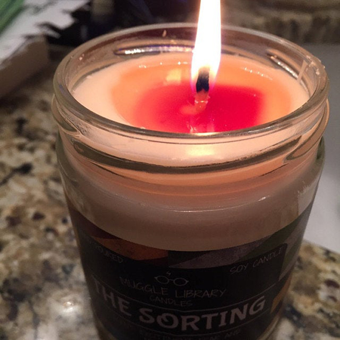 color-changing sorting candle hogwart house