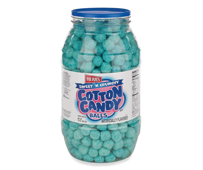 cotton candy balls jar