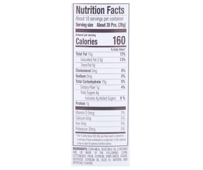 cotton candy balls nutrition facts