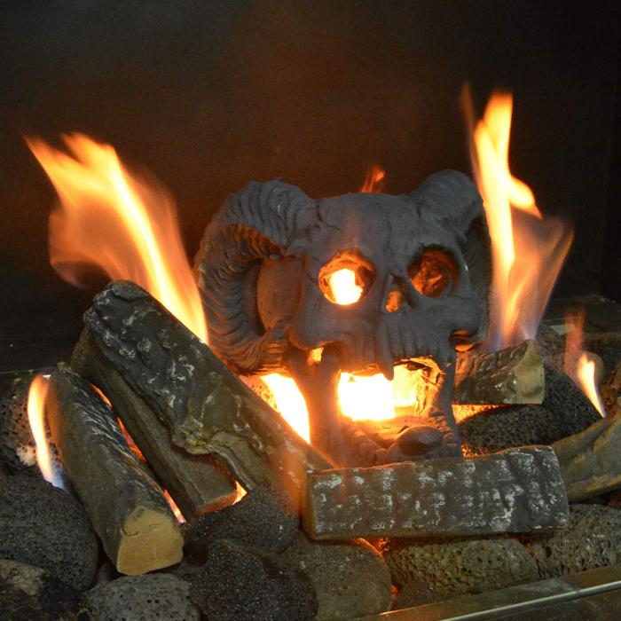 creepy skull flame