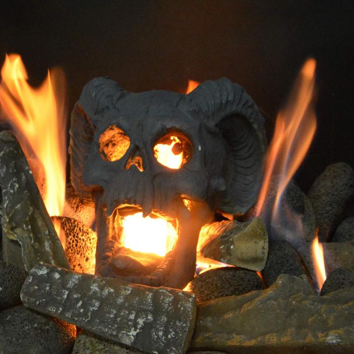 demon skull firepit