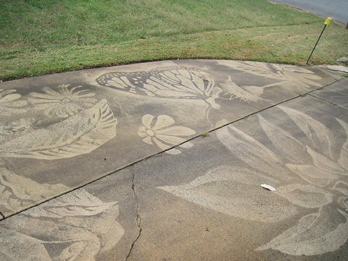 dianna wood driveway artwork