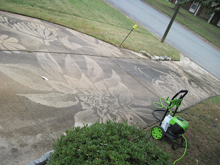 dianna wood hydro jet cleaner driveway artwork