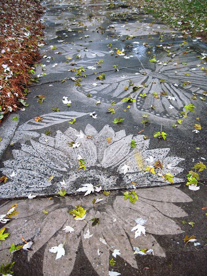 dianna wood neighbor driveway artwork