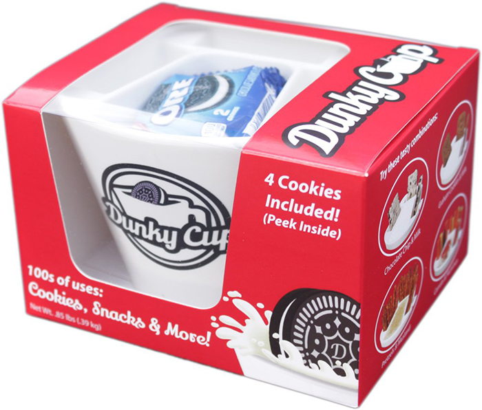 dunky cup red packaging