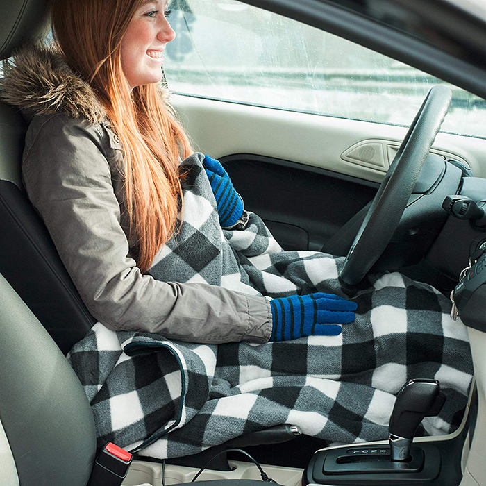 electric heated driving blanket