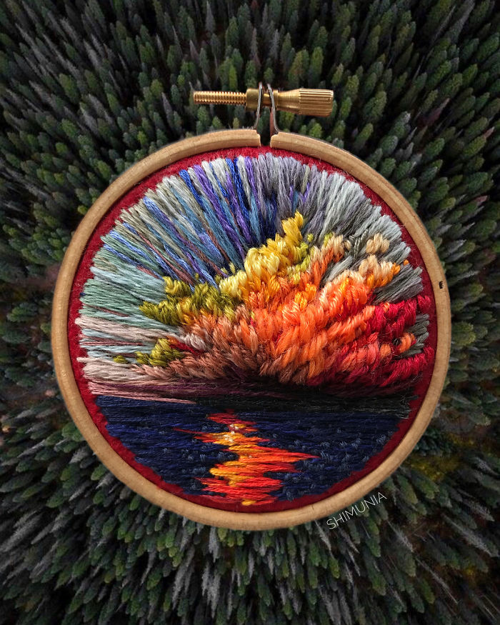 shimunia embroidery painting colorful clouds