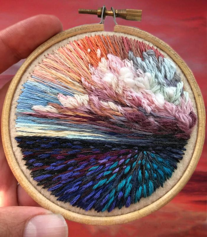 shimunia embroidery painting perspective