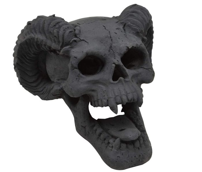 fireplace skull gas log