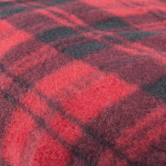 fleece travel throw red