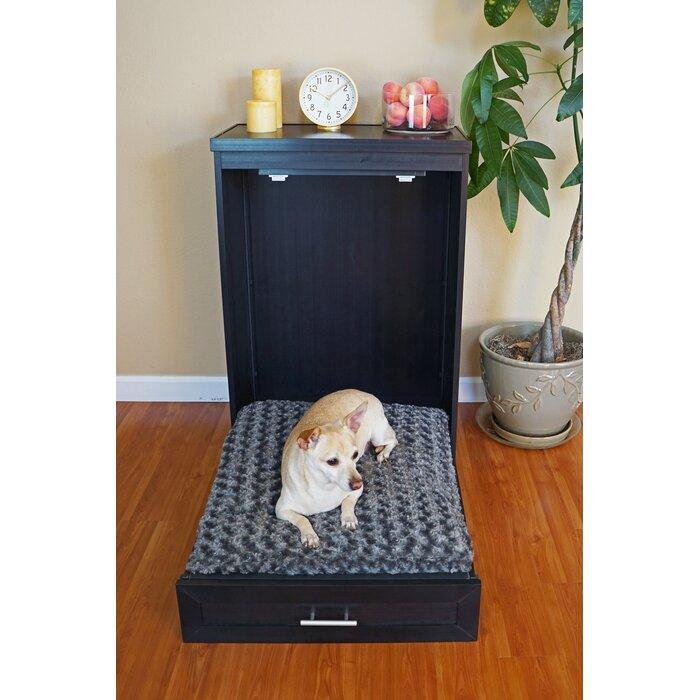 fold-up murphy dog bed cabinet espresso black