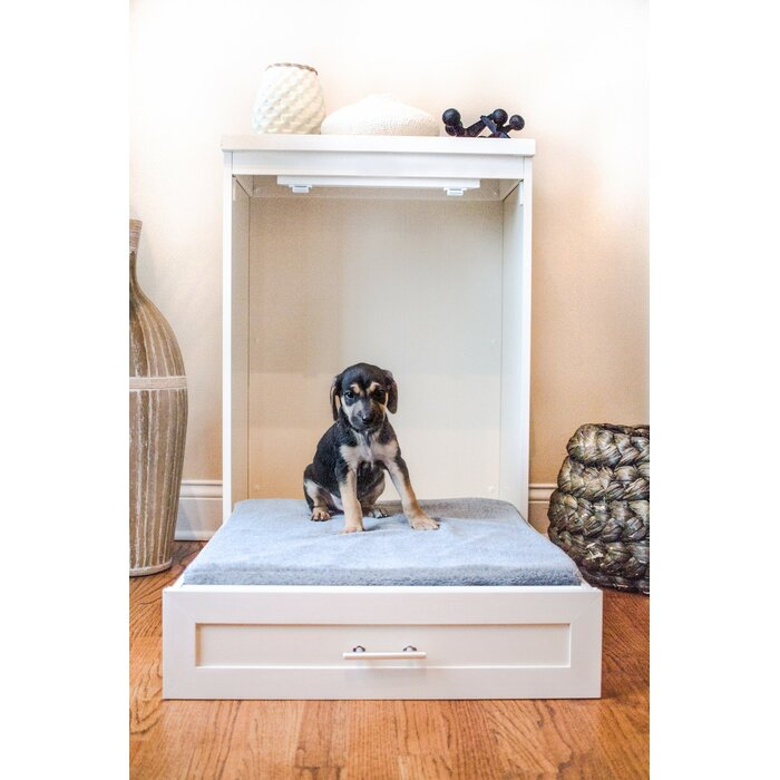 fold-up murphy dog bed cabinet white