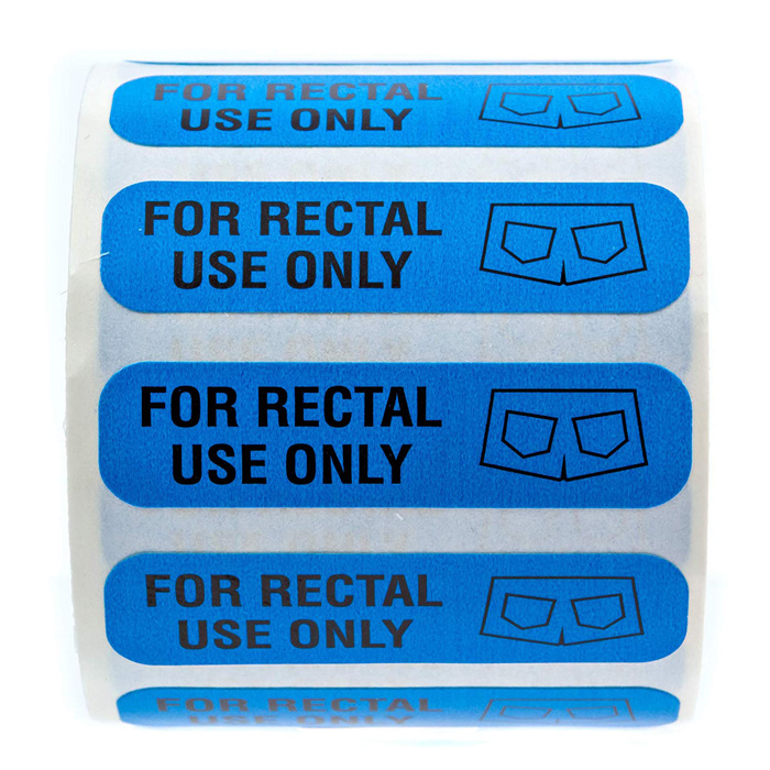 for rectal use only stickers