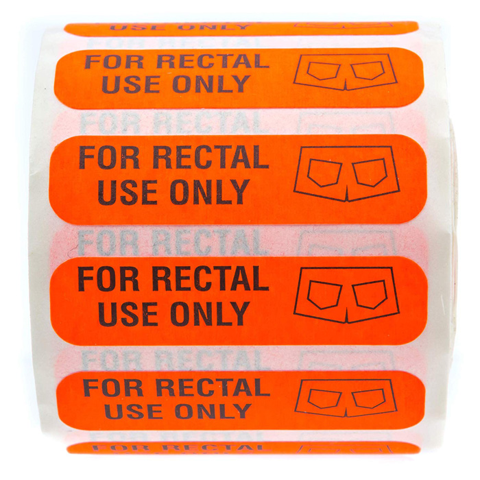 funny labels fluorescent red