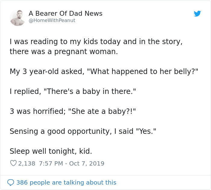 funny parenting struggles pregnant woman ate a baby