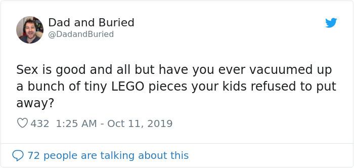 funny parenting struggles vacuuming lego