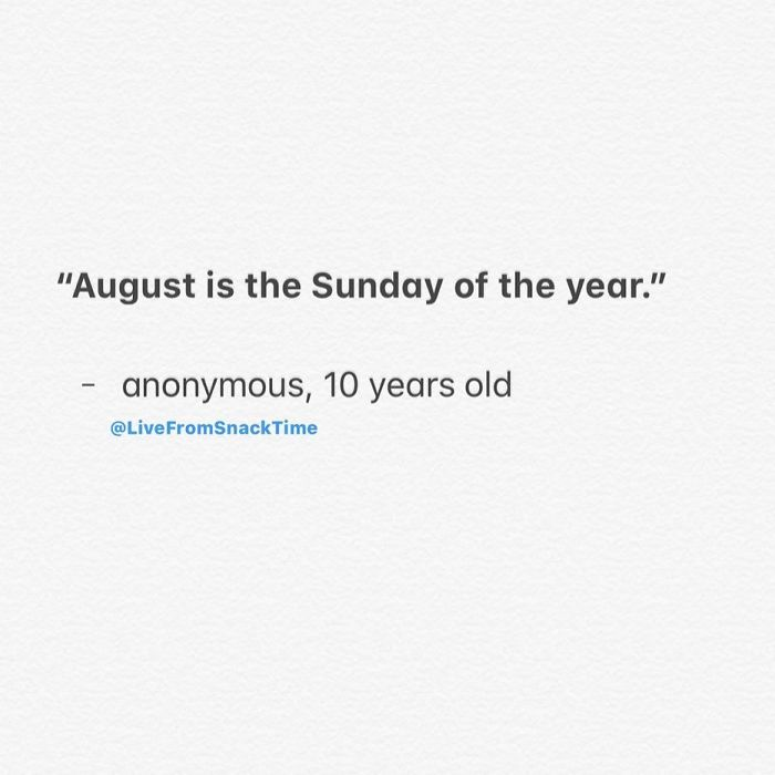 funny things kids say august sunday