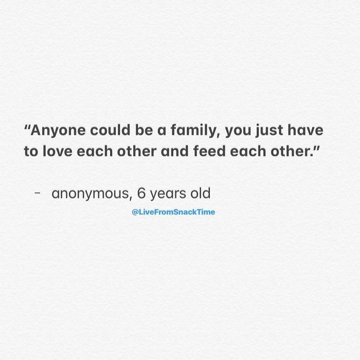 funny things kids say family feeds each other