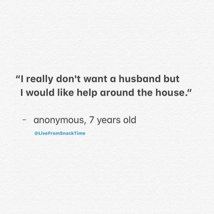 funny things kids say help husband