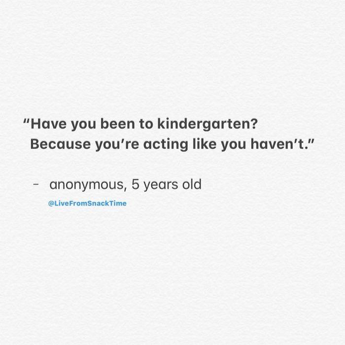 funny things kids say kindergarten