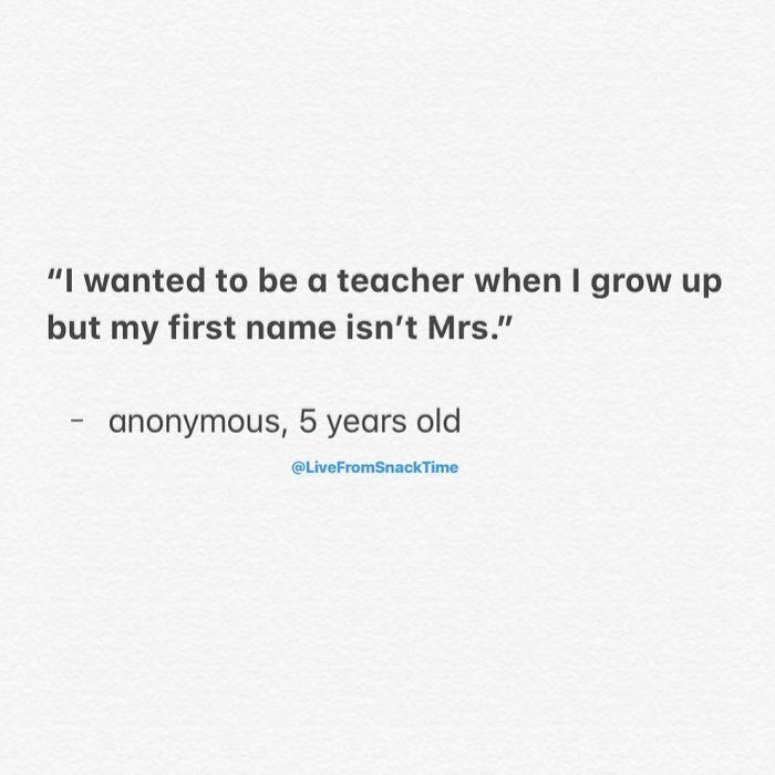 funny things kids say mrs teacher