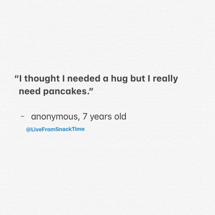 funny things kids say pancakes and hugs