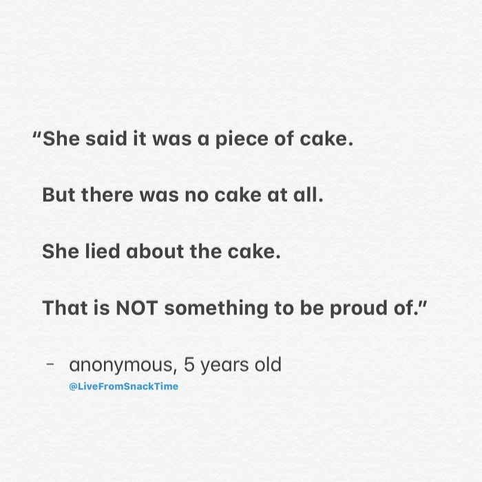 funny things kids say piece of cake