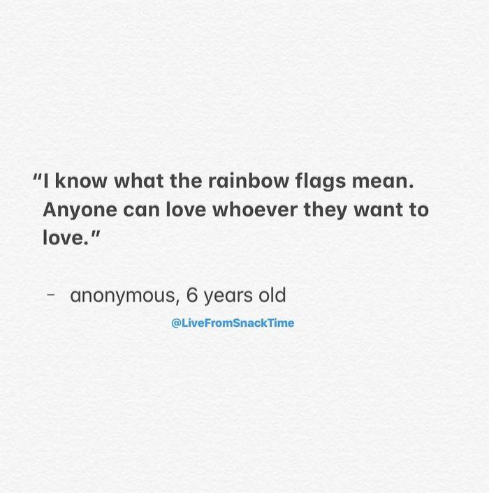 funny things kids say rainbow flag