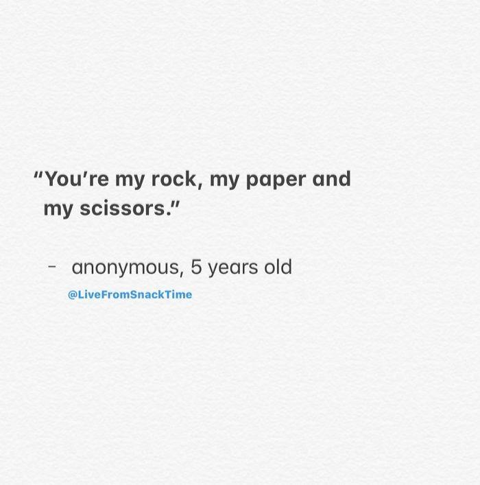funny things kids say rock paper scissors
