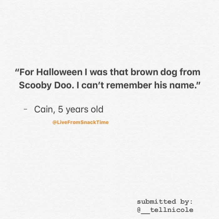 funny things kids say scooby doo