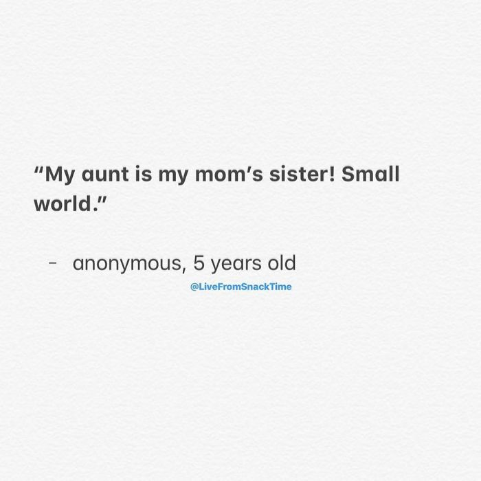 funny things kids say small world