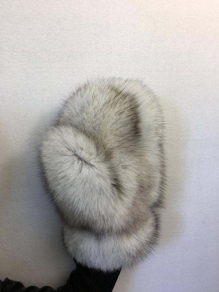 giant fur mittens scandinavian blue fox