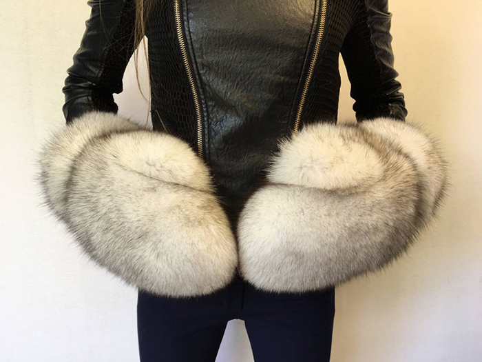 giant fur mittens