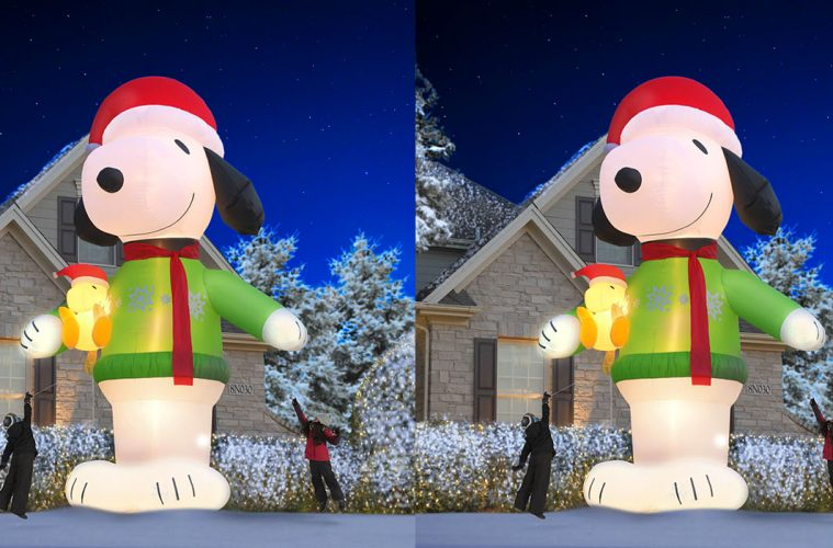 giant inflatable snoopy