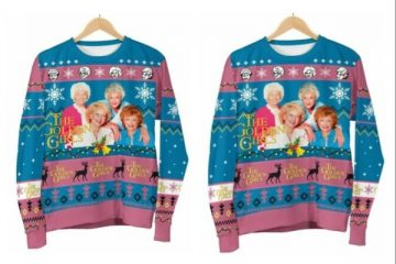 golden girls ugly christmas sweater