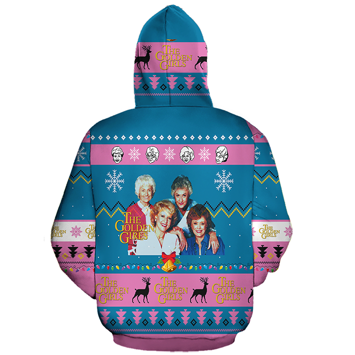 golden girls ugly christmas sweater hoodie back