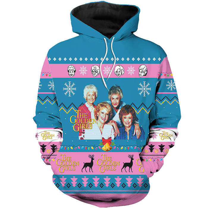 golden girls ugly christmas sweater hoodie