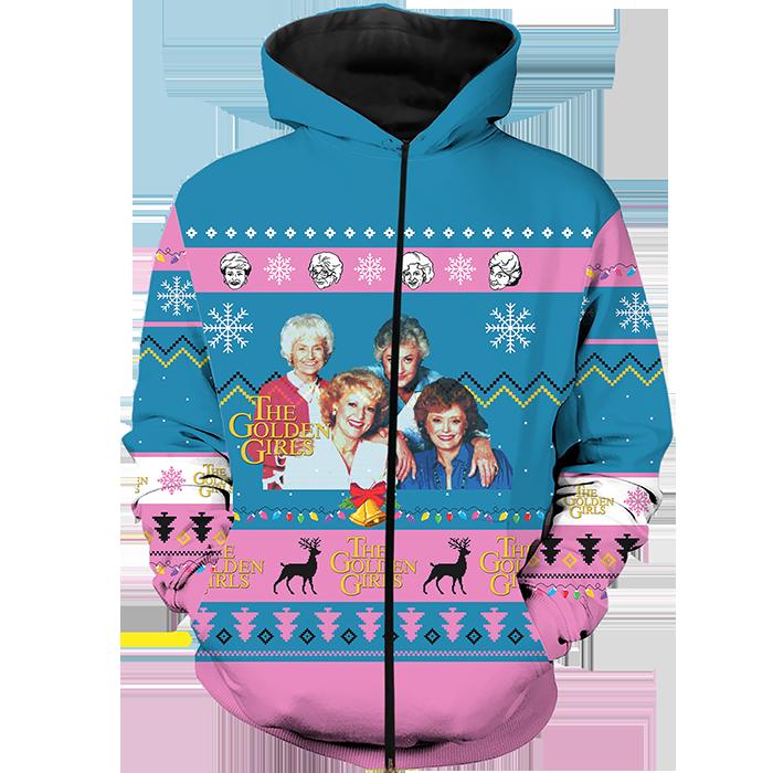 classic sitcom-inspired zippered hoodie