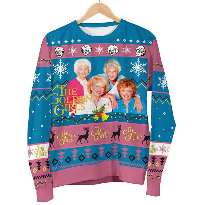 golden girls ugly christmas sweater
