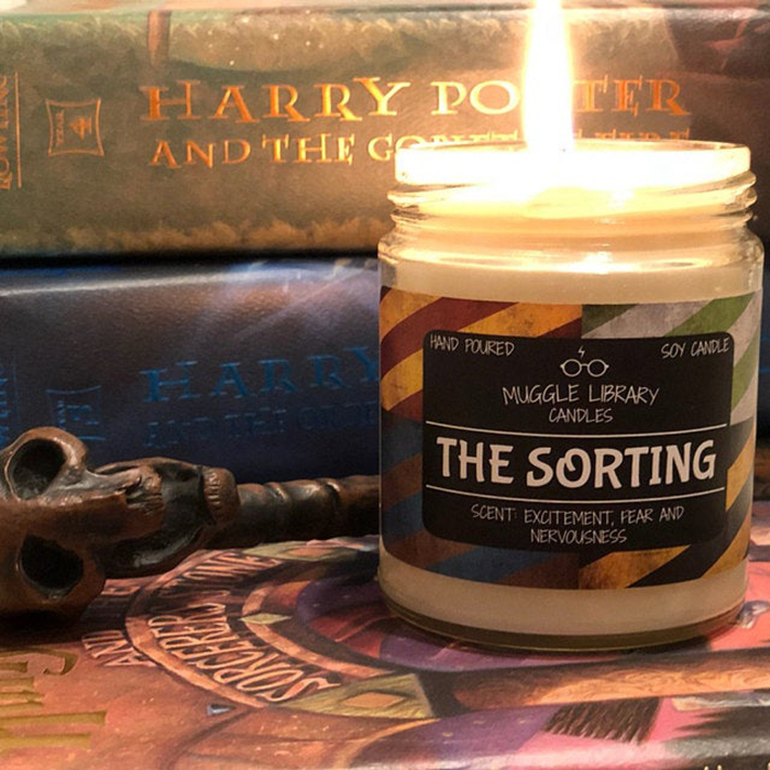 harry potter inspired scented candle