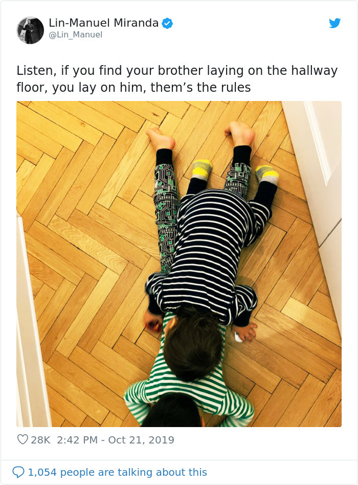 hilarious parent tweets lay on your brother