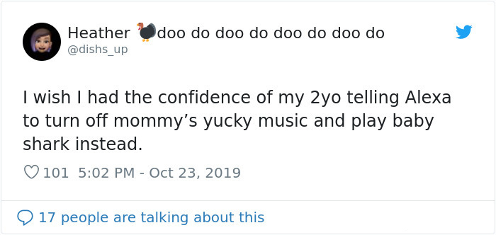 hilarious parent tweets yucky music