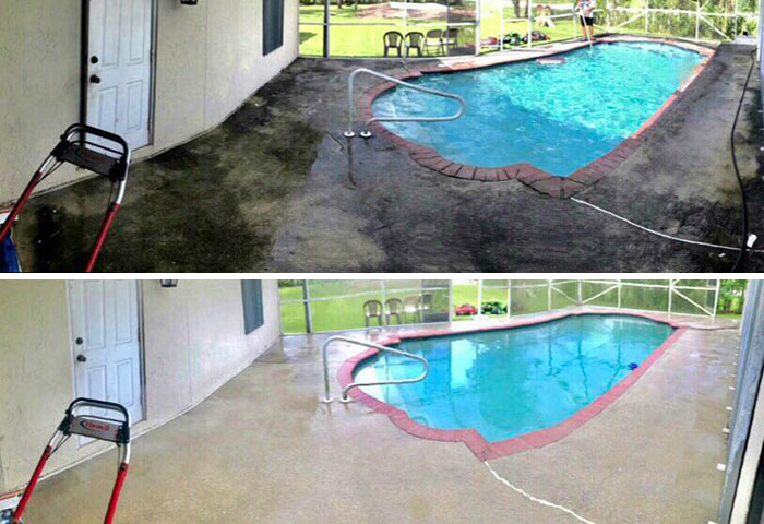 hydro-jet cleaner pool deck